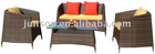 Bright-cllored Rattan Sofa Set