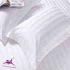 5 star 100% cotton hotel pillow cases/white pillow case/3cm stripe pillow cases