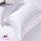 5 star 100% cotton hotel pillow cases/white pillow case/3cm stripe pillow cases