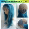 20 inch blue color strachy strap back glueless cap