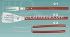 3pcs wooden handle BBQ tools