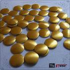 Gold Round Flat back hotfix nailhead