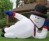 christmas decoration lying christmas snowman