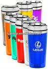 bpa free blue 450ml stainless steel arcylic travel mug