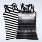100%cotton stripe vest