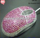 Jewel crystal diamond Mouse optical 3D mouse wired computer mouse fashion gfit