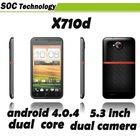 5.3 inch Haipai X710D WCDMA Android 4.0 Phone MTK6577 1.2GGz Dual Core Dual Sim 2G 3G Wifi Bluetooth GPS Dual Camera
