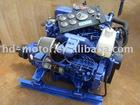 Marine diesel engine with marine gearbox