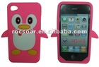 Lovely Penguin Silicone Gel Skin Cover Case for Iphone 4/4S
