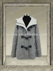 60632-light grey- girls horn button overcoat fashion coat 2012-2013