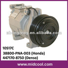 auto a/c compressor for honda