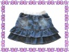 fashin blue denim pleated skirt for girls