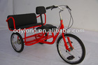 Outdoor exercising pedal tricycle HB-QU001