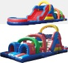cheap inflatable obstacle slide