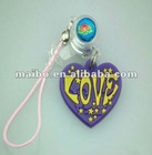 Heart Charm cell phone strap, phone strap