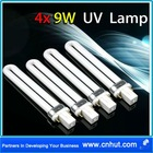 4 x 9W U Shape UV Lamp Light Bulbs for Gel Nail Dryer