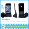 2012 Hot Silicone horn portable speaker no power and wireless