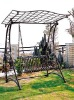 wrought iron garden swing chair