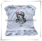 New fashion girls tops/baby kids t shirt/babies dresses