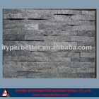 Natural black quartz tiles