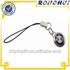 2012 hot sale/zinc alloy enamel/bmw moble phone strap