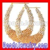 Gold Bamboo Earrings with pearl diamond Wholesale- BW6233