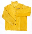 golden leather welding jacket