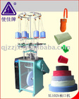 Four feed seamless rib knitting machine