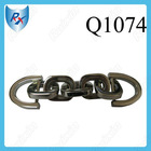 Nickel Finish Bag Fitting Metal Iron Chain with D Buckle