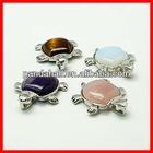 Gemstone Jewelery Pendants with Brass Findings(G-G140-M)