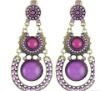 fashion mix colour personality jewelry new arrival vintage elegant bohemia opal earring for woman