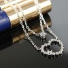 Hot sale newest fashion Austrian cystal Italina heart-shaped pendant necklace