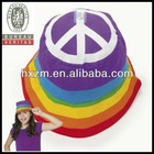 Childs Peace Sign Rainbow Bucket Hat Bright Colorful