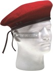 Red Wool Military Beret Hat with Eyelets For Men