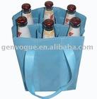 Light blue wine bottle bag for 6 beer bottles
