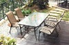 4-Person Fully Welded Cast Aluminum Patio Furniture Dining Set