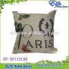 linen printed pillow