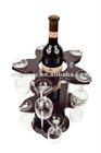 1-bottle wine rack single layer wine rack wooden rack