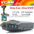 "Car DVR black box 2.5"" LCD in Vehicle Camera"