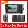 2012 hot 2.7inch High quality Infrared night visioncar video recorder full hd with two camera