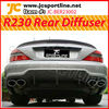 R230 AMG SL63 carbon rear diffuser bumper diffuser for Benz