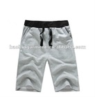 summer hottest cheap men's loose plain light grey sport shorts