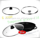 Rustless frying pan Gass lid
