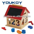 Number block sort box wooden toys education