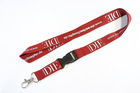 Imprint lanyards with metal hook and plastic buckle