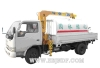 Dongfeng xiao ba wang truck cargo crane spaying (telescoping boom crane)