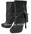 Fashion ladies boots high heel platform boots genuine leather