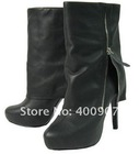 Fashion ladies boots high heel platform boots genuine leather