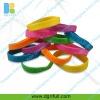 glow in the dark debossed silicone bracelet