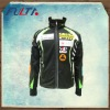 Mens black sublimation softshell jacket
